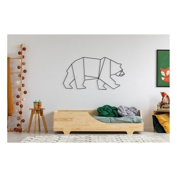 Łóżko dziecięce z drewna sosnowego Adeko Mila BOX 4, 90x160 cm