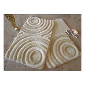 Zestaw 3 dywaników łazienkowych z nićmi w złotym kolorze Wave