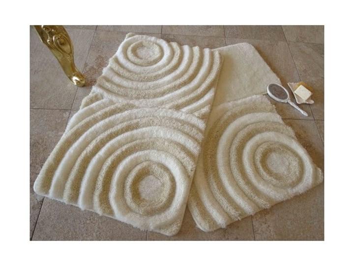 Zestaw 3 dywaników łazienkowych z nićmi w złotym kolorze Wave Kategoria Dywaniki łazienkowe Prostokątny 40x60 cm 50x60 cm 60x100 cm Kolor Beżowy