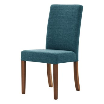 Turkusowe krzesło z ciemnobrązowymi nogami Ted Lapidus Maison Tonka
