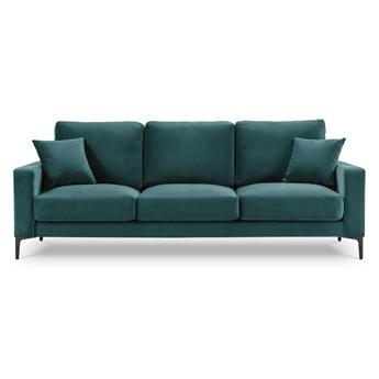Aksamitna sofa w morskim kolorze Kooko Home Harmony, 220 cm