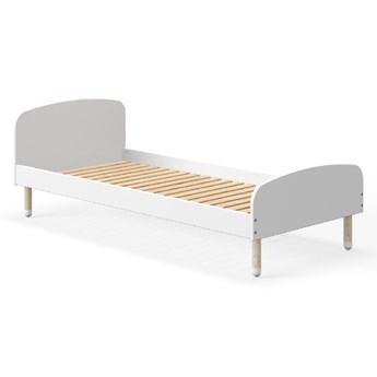 Białe łóżko dziecięce Flexa Dots, 90x190 cm