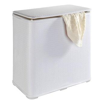 Biały rozkładany kosz na pranie Wenko Wanda, 65 l