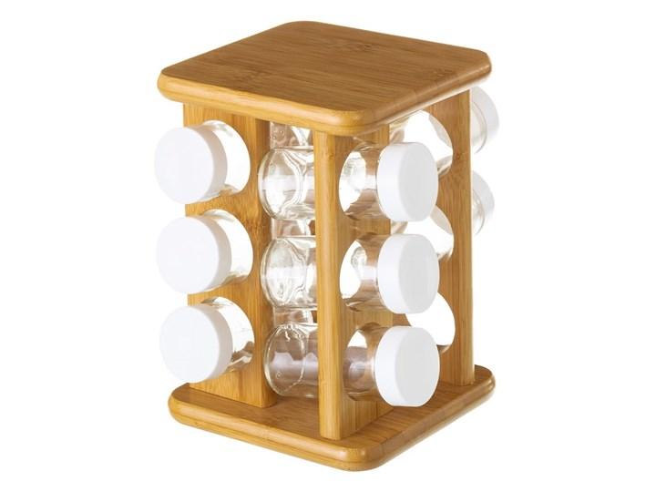 Komplet 12 pojemników na przyprawy ze stojakiem Unimasa