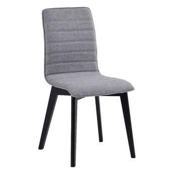 Szare krzesło do jadalni z czarnymi nogami Rowico Grace