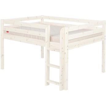 Białe wysokie łóżko dziecięce dla 2 osób z drewna sosnowego Flexa Classic, 140x200 cm