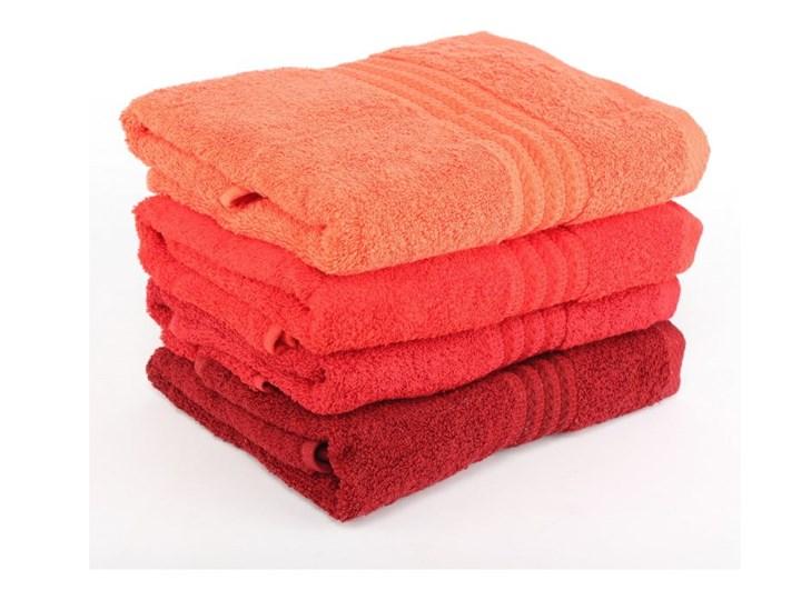 Zestaw 4 czerwonych ręczników bawełnianych Rainbow, 50x90 cm Komplet ręczników Kategoria Ręczniki Frotte Łazienkowe Bawełna Ręcznik kąpielowy Kolor Pomarańczowy