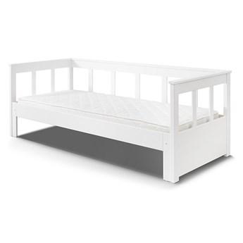 Biała rama łóżka z litego drewna sosnowego Vipack Pino, 200x90 cm