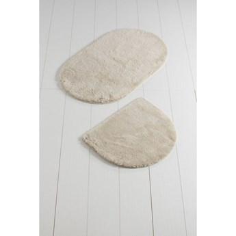 Komplet 2 białych dywaników łazienkowych Colors of Oval
