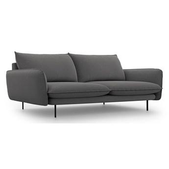 Ciemnoszara sofa Cosmopolitan Design Vienna, 230 cm