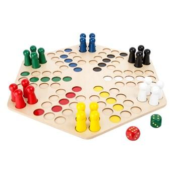 Drewniana gra planszowa dla 6 graczy Legler Ludo
