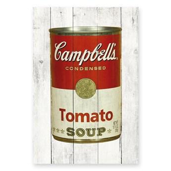 Tabliczka ścienna z drewna sosnowego Really Nice Things Tomato Soup, 40x60 cm
