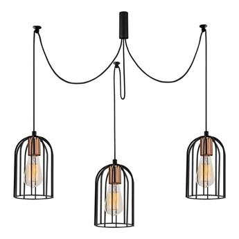 Czarna lampa wisząca z 3 kloszami Opviq lights Pamukkale
