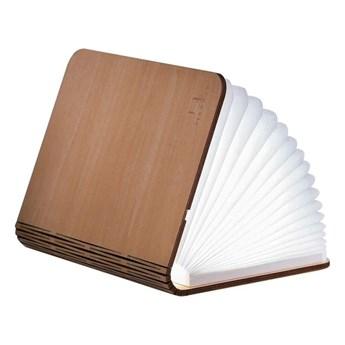 Jasnobrązowa lampka stołowa LED z drewna klonowego w kształcie księgi Gingko Booklight