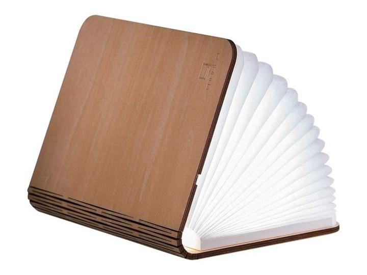 Jasnobrązowa lampka stołowa LED z drewna klonowego w kształcie księgi Gingko Booklight Kolor Beżowy Lampa LED Kategoria Lampy stołowe