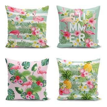 Zestaw 4 poszewek na poduszkę Minimalist Cushion Covers Naturia, 45x45 cm