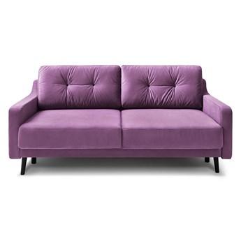 Fioletowa aksamitna rozkładana sofa 3-osobowa Bobochic Paris Torp