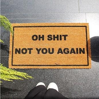 Wycieraczka Doormat Oh Shit, 70x40 cm