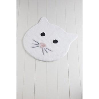Biały dywanik łazienkowy Cat, ⌀ 90 cm