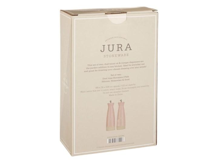 Zestaw 2 różowych butelek kamionkowych na olej i ocet Premier Housewares, 528 ml Stal nierdzewna Zestaw do przypraw Pojemnik na ocet i oliwę Kategoria Przyprawniki