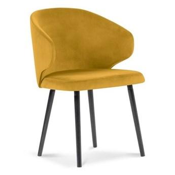 Żółte krzesło z aksamitnym obiciem Windsor & Co Sofas Nemesis