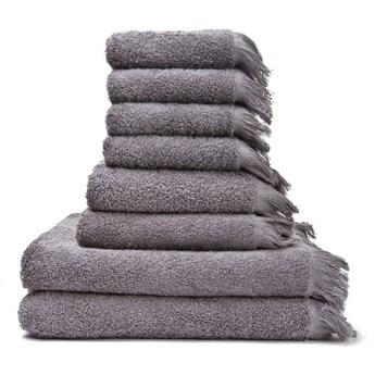 Zestaw 8 szaro-brązowych ręczników ze 100% bawełny Bonami