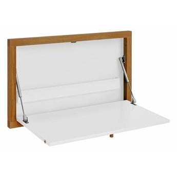 Biały rozkładany stół ścienny Woodman Brenta