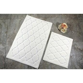 Zestaw 2 dywaników łazienkowych ze 100% bawełny Dante Ecru