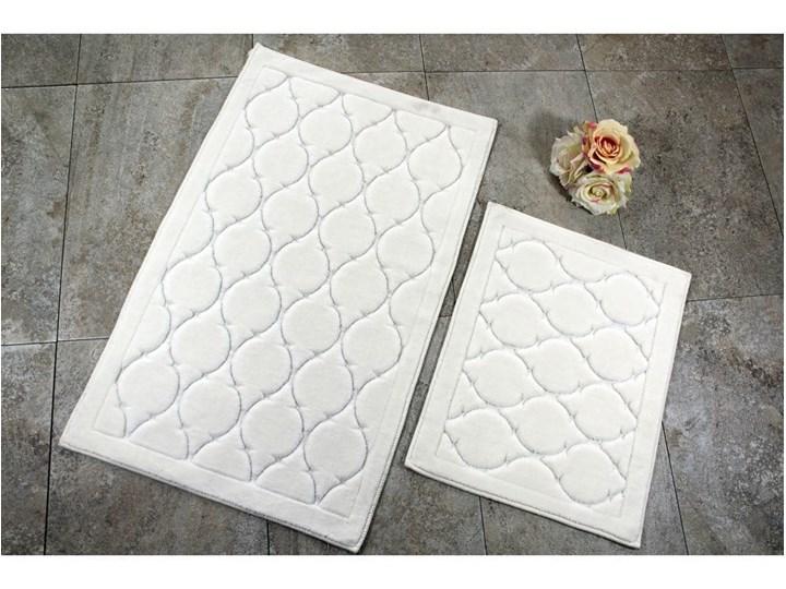 Zestaw 2 dywaników łazienkowych ze 100% bawełny Dante Ecru Prostokątny 50x60 cm 60x100 cm Bawełna Kolor Beżowy Kategoria Dywaniki łazienkowe