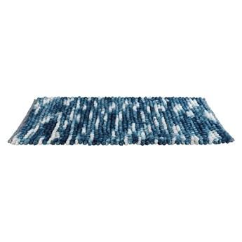 Niebieski dywanik łazienkowy Wenko Smooth Blue, 90x60 cm