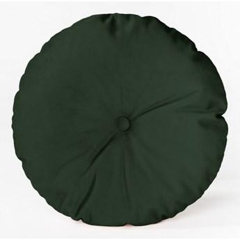 Okrągła poduszka dekoracyjna z aksamitnym obiciem Velvet Atelier Dark Green, ⌀ 45 cm