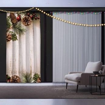 Świąteczna zasłona Pine Tree, 140x260 cm
