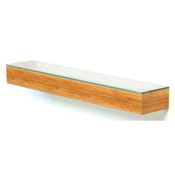 Bambusowa półka łazienkowa Wireworks Bamboo, dł. 55 cm