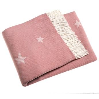 Różowy pled z domieszką bawełny Euromant Stars 140x160 cm