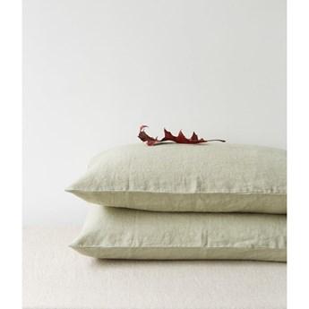 Jasnozielona lniana poszewka na poduszkę Linen Tales, 70x90 cm
