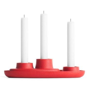 Czerwony świecznik EMKO Aye Aye Three Candles