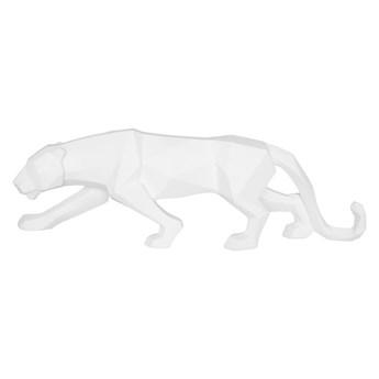 Matowa biała figurka w kształcie pantery PT LIVING Origami Panther