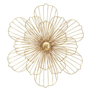 Dekoracja ścienna w złotym kolorze Mauro Ferretti Flower Stick, 50x47 cm