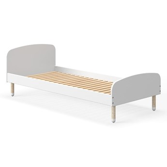 Białe łóżko dziecięce Flexa Dots, 90x200 cm