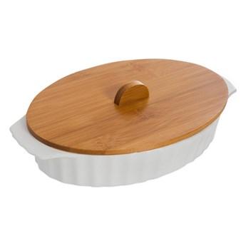 Porcelanowe naczynie do zapiekania z wieczkiem bambusowym Bambum