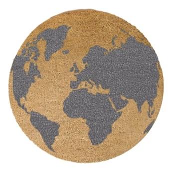 Okrągła wycieraczka Artsy Doormats Grey Globe, ⌀ 70 cm