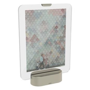Ramka LED na zdjęcia z podstawą w szarym kolorze Umbra Glo, 13x18 cm