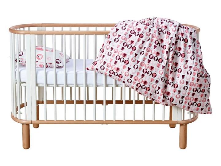 Białe łóżeczko dziecięce z drewna bukowego Flexa Baby, 70x140 cm Kolor Biały Drewno Łóżeczka drewniane Kategoria