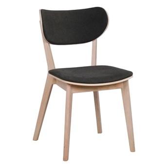 Jasnobrązowe dębowe krzesło do jadalni z grafitowym siedziskiem Rowico Cato