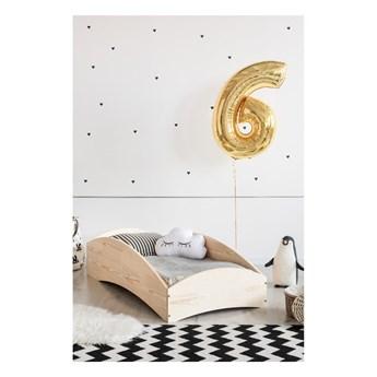Łóżko dziecięce z drewna sosnowego Adeko BOX 6, 100x200 cm