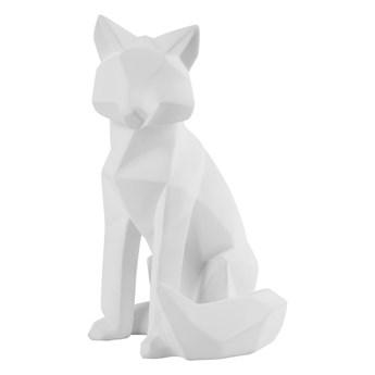 Matowa biała figurka w kształcie lisa PT LIVING Origami Fox, wys. 26 cm