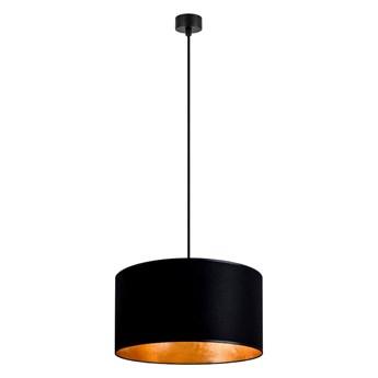 Czarna lampa wisząca z wnętrzem w kolorze złota Sotto Luce Mika, ⌀ 36 cm