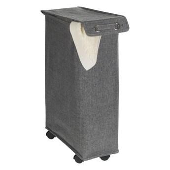 Ciemnoszary kosz na pranie Wenko Corno, 44,4 l