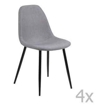 Zestaw 4 jasnoszarych krzeseł Actona Wilma Dining Set