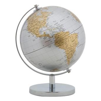 Dekoracja na stół w kolorze srebrno-złotym Mauro Ferretti Globe, wys. 28 cm
